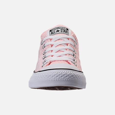 Front view of Women's Converse Chuck Taylor All Star Madison Ox Casual Shoes in Vapor Pink/White