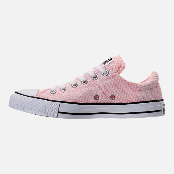 Left view of Women's Converse Chuck Taylor All Star Madison Ox Casual Shoes in Vapor Pink/White