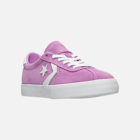 Three Quarter view of Women's Converse Breakpoint Ox Casual Shoes in Fuchsia Glow