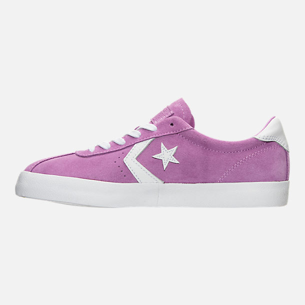 Left view of Women's Converse Breakpoint Ox Casual Shoes in Fuchsia Glow