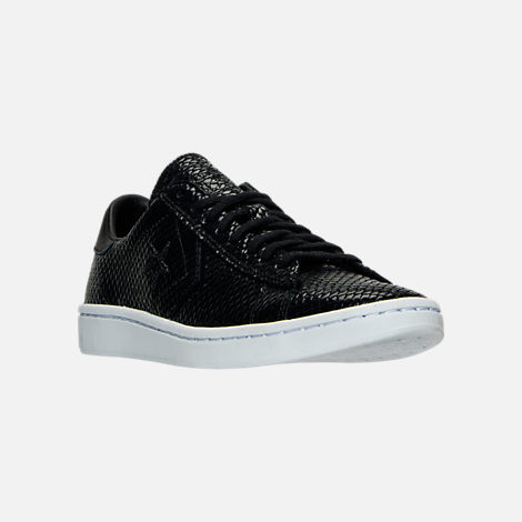 Three Quarter view of Women's Converse Pro Leather LP Ox Casual Shoes in Black