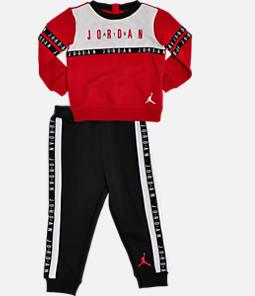 Boys' Infant and Toddler Air Jordan Crewneck Sweatshirt and Jogger Pant Set