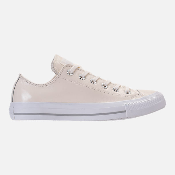 Right view of Women's Converse Chuck Taylor Ox Patent Casual Shoes in Egret