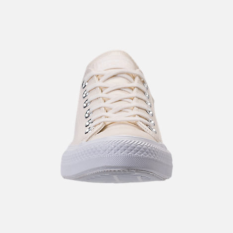 Front view of Women's Converse Chuck Taylor Ox Patent Casual Shoes in Egret