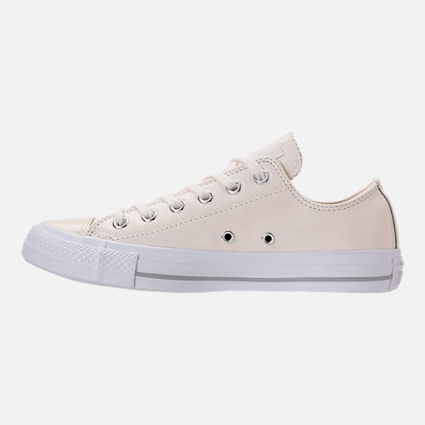 Left view of Women's Converse Chuck Taylor Ox Patent Casual Shoes in Egret