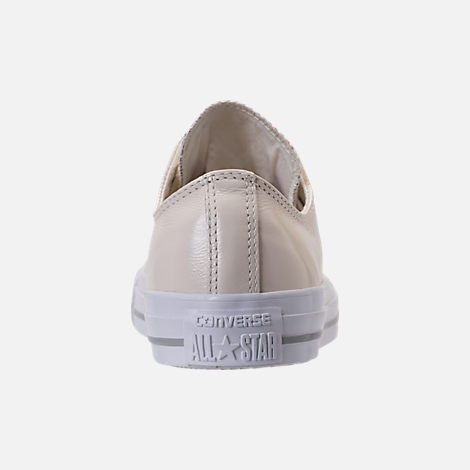 Back view of Women's Converse Chuck Taylor Ox Patent Casual Shoes in Egret