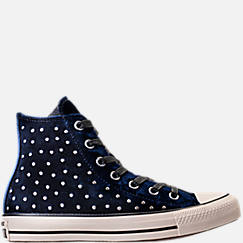 Women's Converse Chuck Taylor High Top Velvet Stud Casual Shoes
