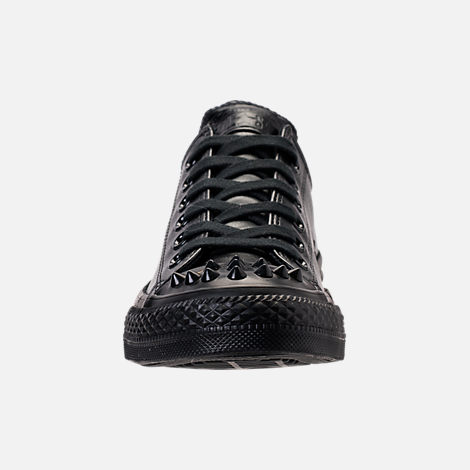 Front view of Women's Converse Chuck Taylor Ox Stud Casual Shoes in Black
