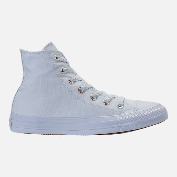 Right view of Women's Converse Chuck Taylor High Top Casual Shoes in Blue Tint/Blue Tint/Gold