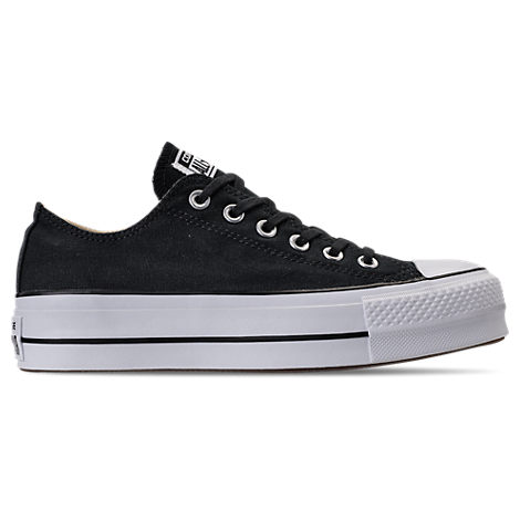 Women'S Chuck Taylor All Star Lift Low Casual Shoes, Black