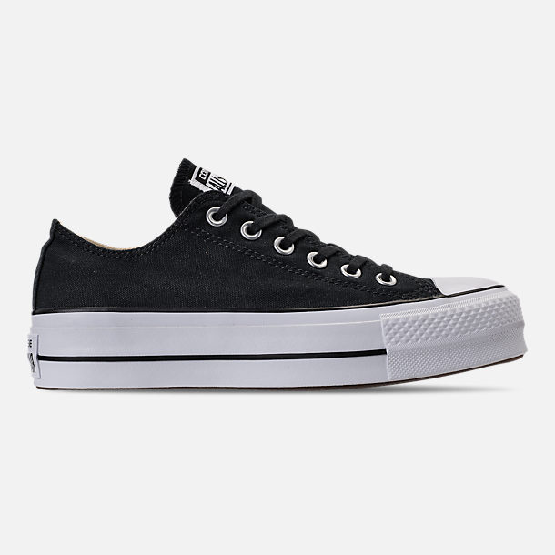 Right view of Women's Converse Chuck Taylor All Star Lift Low Casual Shoes in Black