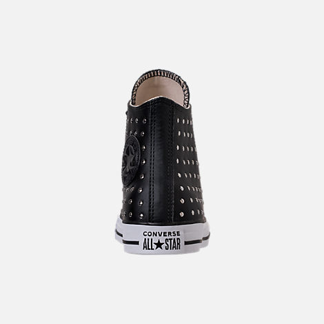 Back view of Women's Converse Chuck Taylor High Top Stud Casual Shoes in Converse Black