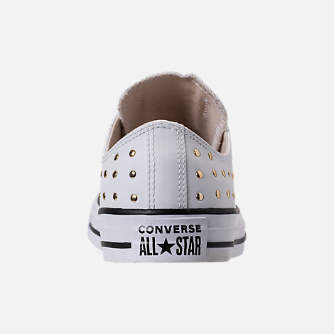 Back view of Women's Converse Chuck Taylor Ox Stud Casual Shoes in White