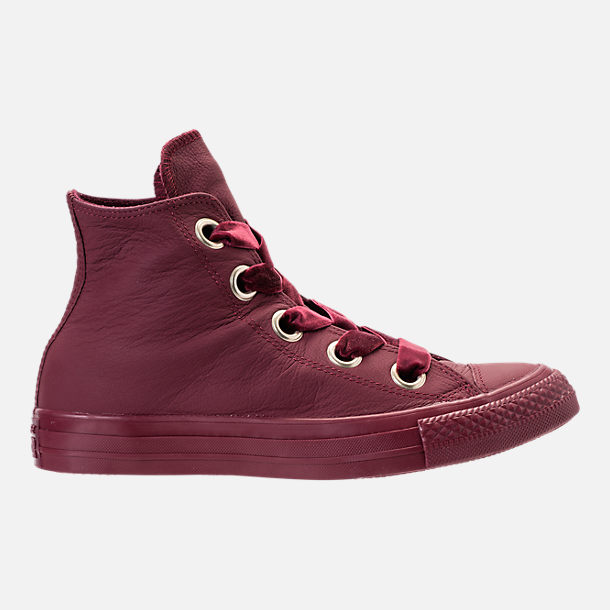 Right view of Women's Converse Chuck Taylor Big Eyelets High Top Casual Shoes in Dark Burgundy