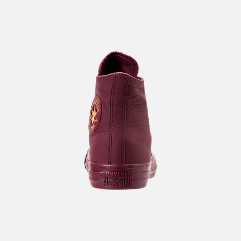 Back view of Women's Converse Chuck Taylor Big Eyelets High Top Casual Shoes in Dark Burgundy