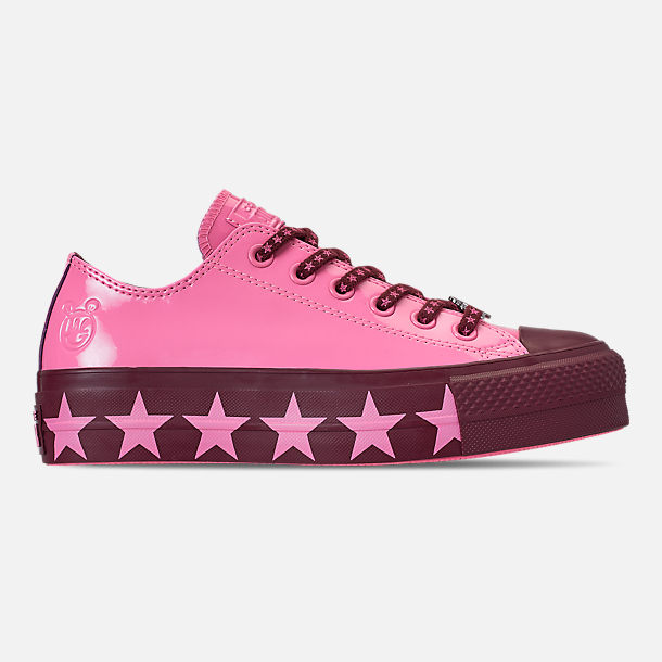 8339630595e1dc Right view of Women s Converse x Miley Cyrus Chuck Taylor Lift Ox Casual  Shoes in Pink
