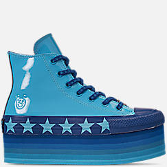 Women's Converse x Miley Cyrus Chuck Taylor Stack High Top Casual Shoes