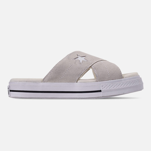 3cd8df689d78 Right view of Women s Converse One Star Slip Athletic Slide Sandals in  Egret Egret