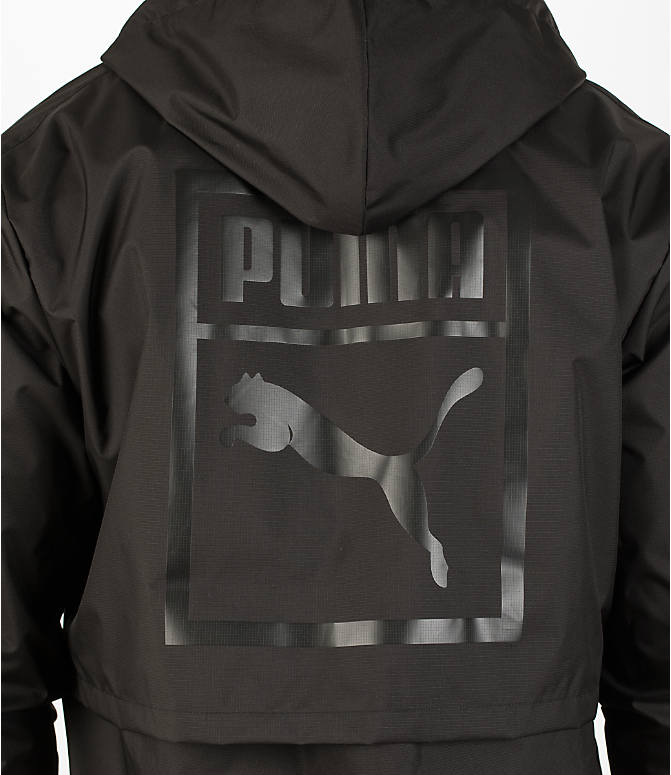 Detail 2 view of Men's Puma Archive Windbreaker Jacket in Black