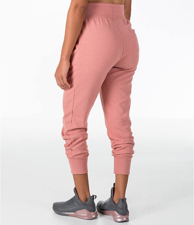 Back Left view of Women's Puma T7 Track Pants in Cameo Brown