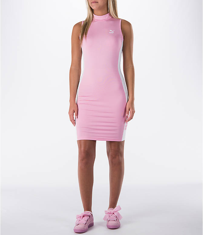 Front view of Women's Puma T7 Bodycon Dress
