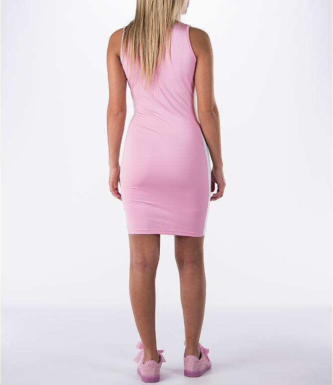 Back Right view of Women's Puma T7 Bodycon Dress