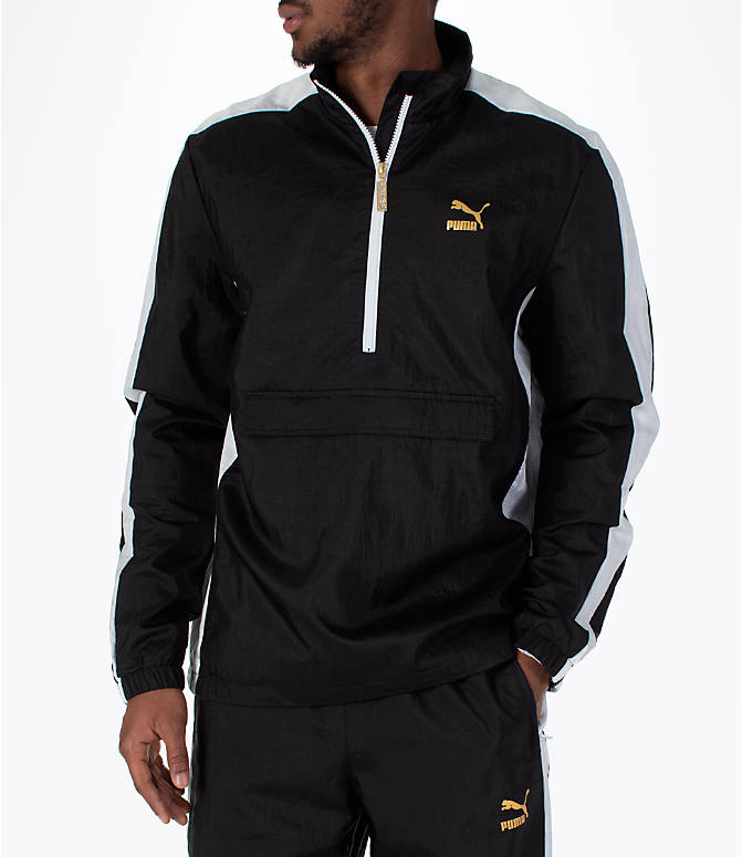 Front view of Men's Puma T7 BBoy Track Jacket in Black
