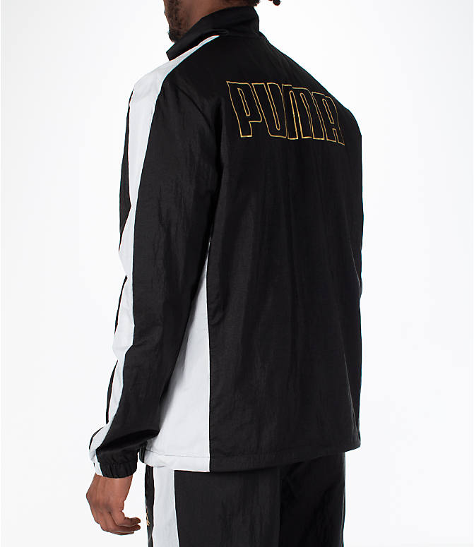 Back Left view of Men's Puma T7 BBoy Track Jacket in Black