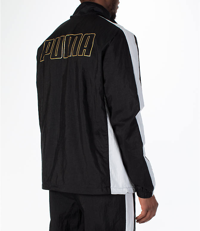 Back Right view of Men's Puma T7 BBoy Track Jacket in Black
