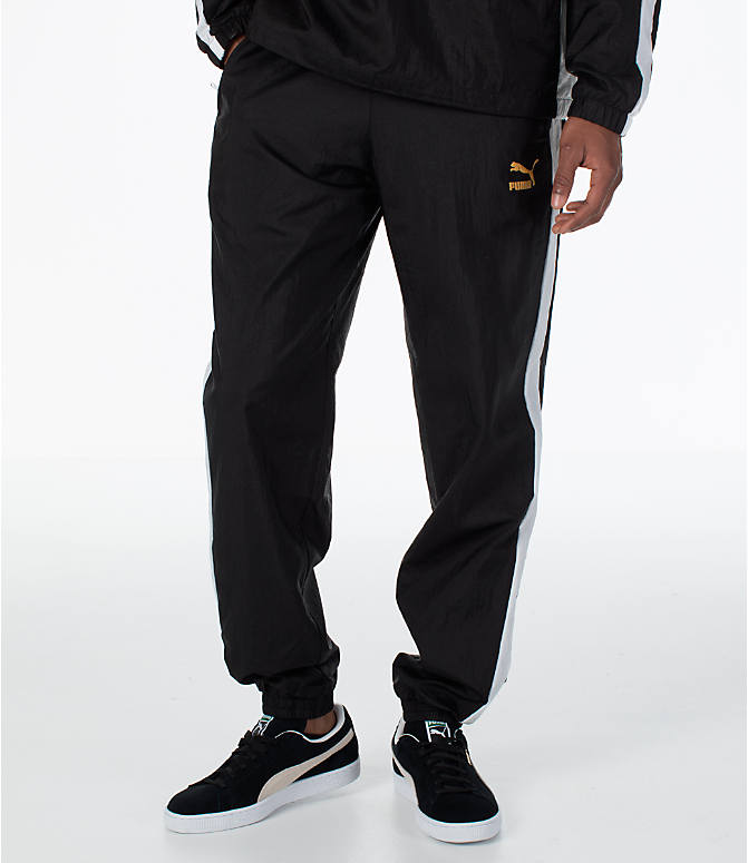 Front view of Men's Puma T7 BBoy Track Jogger Pants in Black