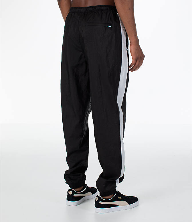 Back Right view of Men's Puma T7 BBoy Track Jogger Pants in Black