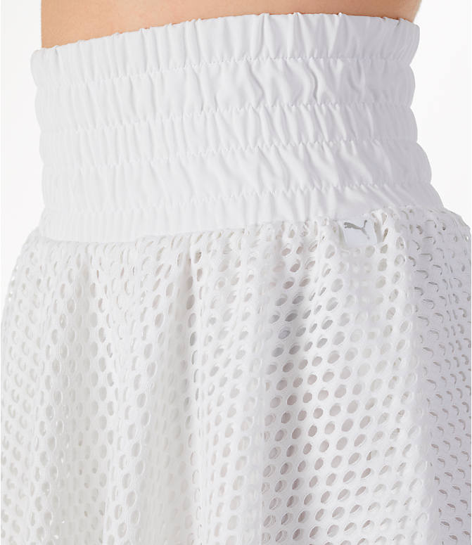 Detail 1 view of Women's Puma En Pointe Skirt in White/Mesh