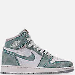Big Kids' Air Jordan Retro 1 High OG Basketball Shoes