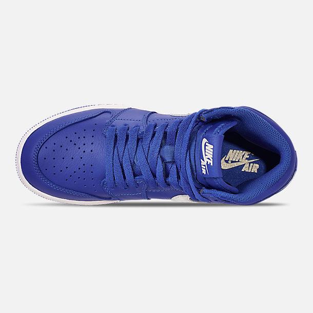 25c1f2e508ca ... Grade School Basketball Shoes  Top view of Big Kids Air Jordan Retro 1  High OG Basketball Shoes in Hyper ...