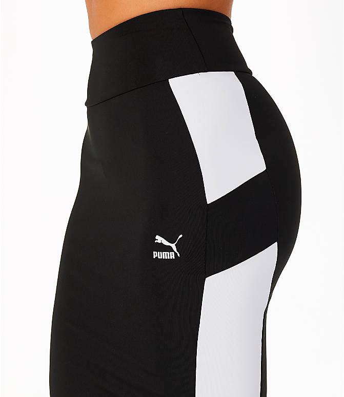 Detail 1 view of Women's Puma Pencil Skirt in Black/White