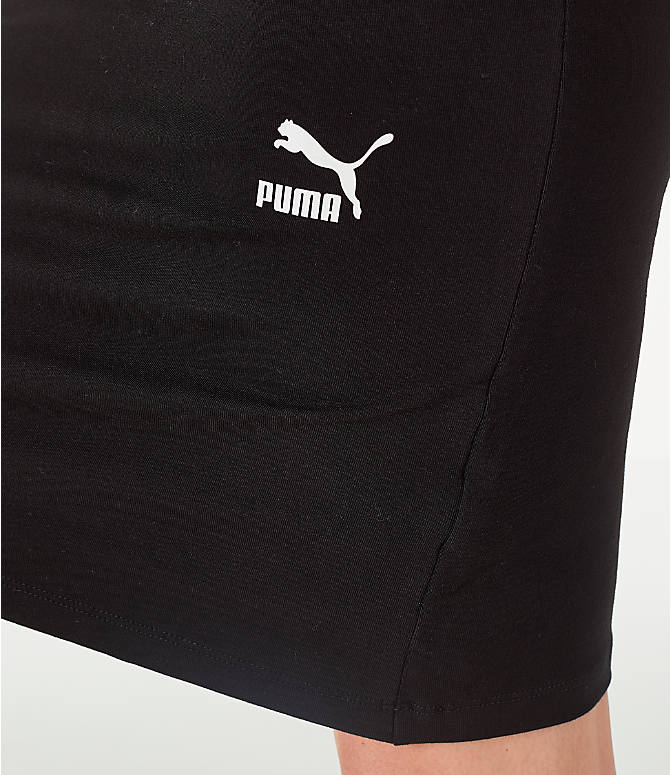 Detail 1 view of Women's Puma Classics T7 Dress in Black/White