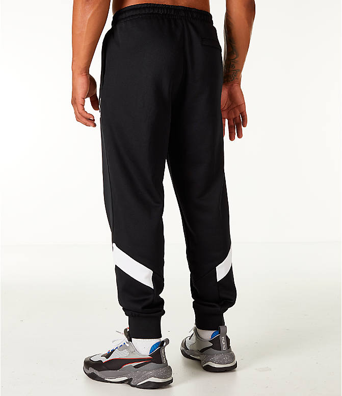 Back Left view of Men's Puma MCS Track Jogger Pants in Puma Black