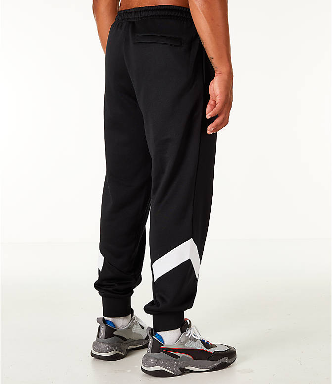 Back Right view of Men's Puma MCS Track Jogger Pants in Puma Black