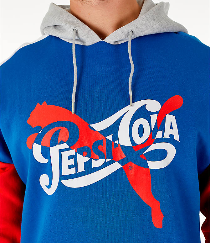 Detail 1 view of Men's PUMA x PEPSI Track Hoodie in Light Grey Heather
