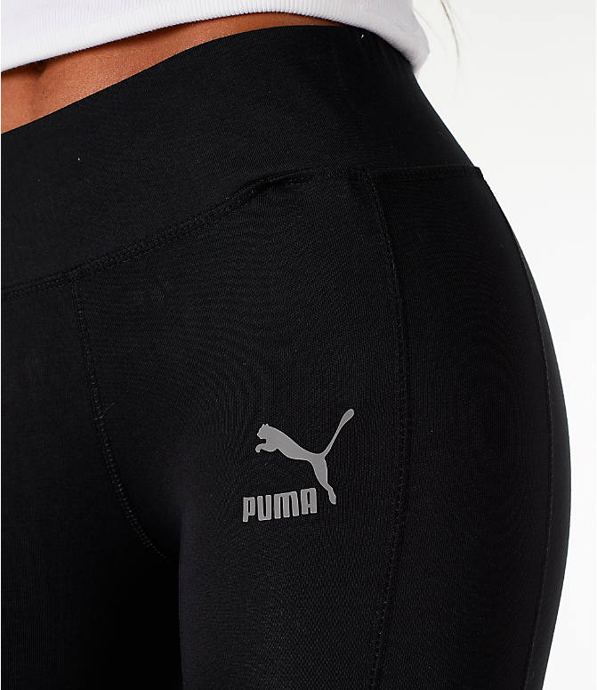 Detail 1 view of Women's Puma T7 Invisible Leggings in Black/Sheer