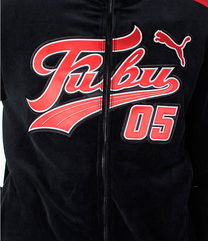 Detail 2 view of Men's Puma x Fubu T7 Track Jacket in Black/High Risk Red