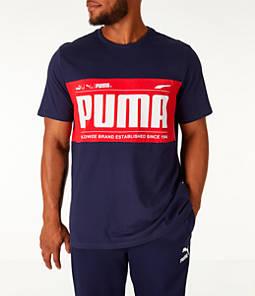 Men's Puma Graphic Logo Block T-Shirt