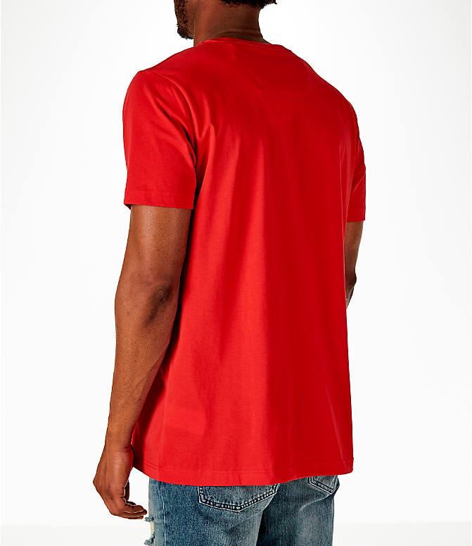 Back Left view of Men's Puma x Fubu Graphic T-Shirt in High Risk Red