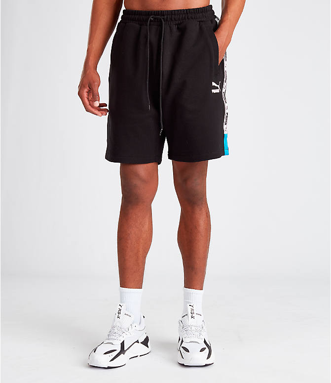 Front Three Quarter view of Men's Puma XTG Shorts in Black