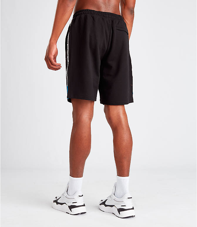 Back Left view of Men's Puma XTG Shorts in Black