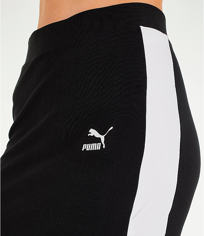 Detail 1 view of Women's Puma Classics Ribbed Skirt in Black