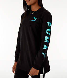 Women's Puma Retro Long Sleeve T-Shirt