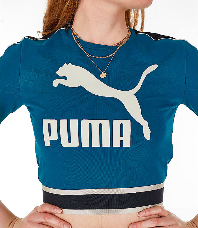 Detail 1 view of Women's Puma Revolt Cropped T-Shirt in Corsair/Blue