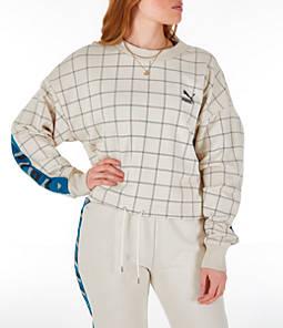 Women's Puma Revolt Cropped Crew Sweatshirt