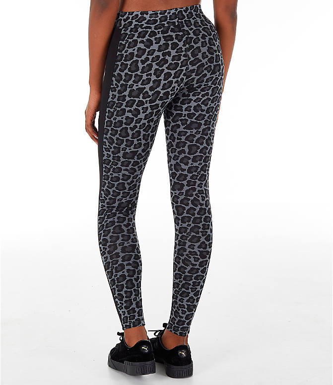 Front Three Quarter view of Women's Puma Wild Pack T7 Leggings